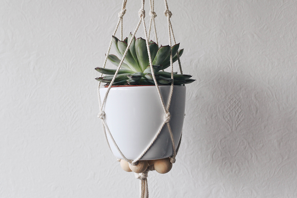 Macrame suspension pour plante